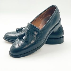 Allen Edmonds Bridgeton Mens Black Leather Kiltie